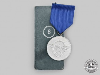 Germany, Ordnungspolizei. An Ordnungspolizei Long Service Medal, III Class for 8 Years, with Case