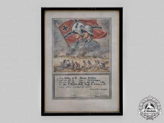 Germany, Weimar Republic. A Military School Marksmanship Award Certificate