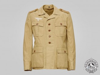 Germany, Luftwaffe. An Enlisted Flight Personnel Tropical Field Blouse, by B. Rawe & Co.