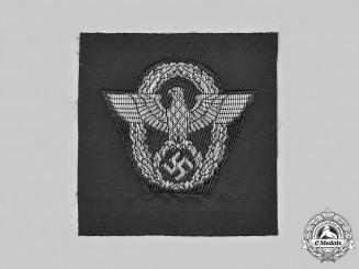 Germany, Ordnungspolizei. An Ordnungspolizei Officer's M43/Overseas Cap Insignia