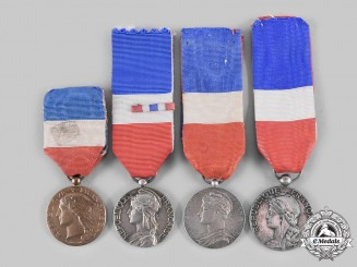 France, III Republic. Lot of Four Honour Medals