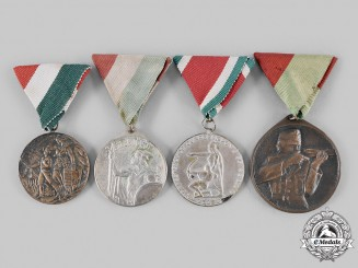 Hungary, Kingdom. A Lot of Four Shooting/Sport Medals