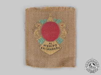 Spain, Republic. A Uniform Merit Badge for Spanish Troops for the Campaign in Morocco