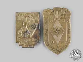 Germany, HJ. A Pair of HJ Commemorative Badges