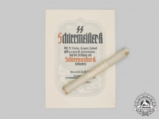 Germany, SS. A Large Appointment Document To Schirrmeister.K (Vehicle Maintenance Sergeant)