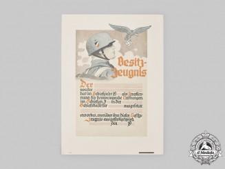 Germany, Luftwaffe. A Large Unissued Marksmanship Certificate