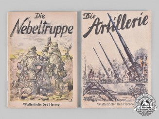 Germany, Heer. A Pair of Waffenhefte des Heeres Booklets, Smoke Troops & Artillery 1940