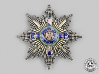Romania, Kingdom. An Order of the Star of Romania, Grand Cross Breast Star, Military Division, by J. Resch, c. 1910