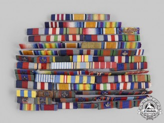 United Kingdom, Canada. A Lot of Forty-One First and Second War Medal Ribbon Bars