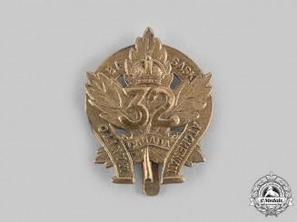 "Canada, CEF. A 32nd Infantry Battalion ""Manitoba and Saskatchewan Regiment"" Cap Badge"