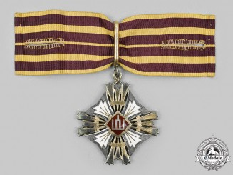Lithuania, Republic. An Order of Gediminas, III Class Cross, by Huguenin Freres c. 1935
