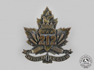 "Canada, CEF. A 212th Infantry Battalion ""Winnipeg Americans"" Cap Badge"