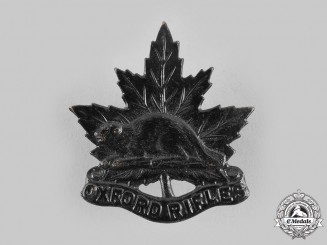Canada, Dominion. An Oxford Rifles Cap Badge