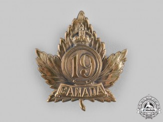 Canada, CEF. A 19th Infantry Battalion Cap Badge