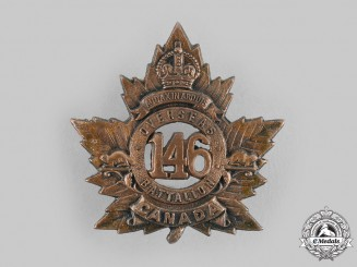 Canada, CEF. A 146th Infantry Battalion Cap Badge