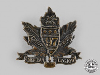 "Canada, CEF. A 97th Infantry Battalion ""Toronto Americans"" Cap Badge, by Geo.H.Lees, c.1915"