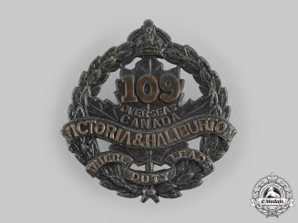 "Canada, CEF. A 109th Infantry Battalion ""Victoria and Haliburton Battalion"" Cap Badge"