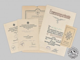Germany, Wehrmacht. A Lot of Award Documents
