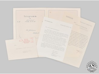 Germany, Third Reich. A Collection of Documents to Düsseldorf City Councillor, c.1940