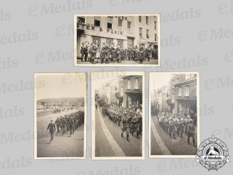 Germany, Wehrmacht. A Rare Photo Group of Wehrmacht Personnel on Parade in Guernsey