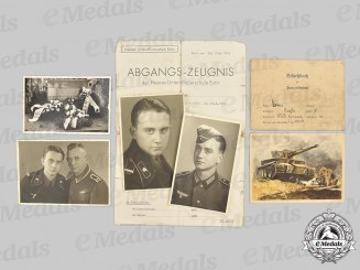 Germany, Heer. A Lot of Photos and Documents to Horst Lenz, Panzer-Abteilung 510