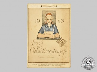 Germany, RADwJ. A 1943 Calendar for Arbeitsmaiden (Young Female Labourers)