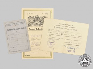 Germany, Kriegsmarine. The Documents to U-Boat Commander Schultze (Submarine Badge with Diamonds)