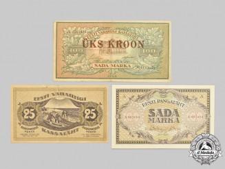 Estonia, First Republic. A Lot of Rare Interwar Estonian Currency
