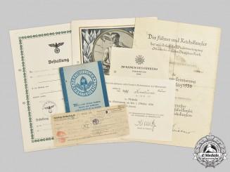 Germany, Heer. A Lot of Award & Identity Documents to Oberfeldwebel Bruno Kindlund, Infanterie-Regiment 384 (Kroatien)