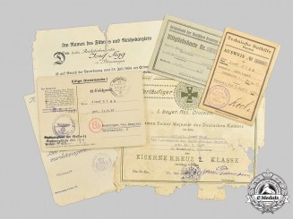 Germany, Third Reich. A Collection of Documents from First and Second War to Josef Sigg