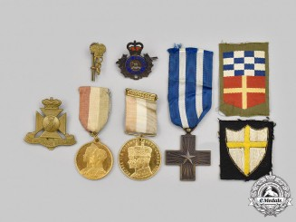 International. A Mixed Lot of Badges, Medals, and Insignia