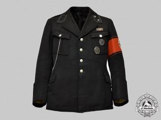 Germany, SS. An Allgemeine SS Service Tunic for an Oberscharführer in Sicherheitsdienst Service