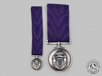 Egypt, Kingdom. A Medal for Meritorious Actions, II Class Silver Grade, Fullsize and Miniature