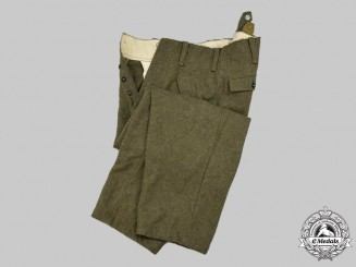 Germany, SS. A Pair of Waffen-SS M44 Trousers