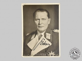 Germany, Luftwaffe. A Wartime Signed Postcard of Reichsmarschall Hermann Göring