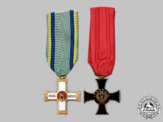 Italy, Kingdom. Two Second War Italian Army Crosses