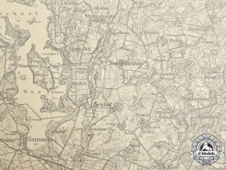 Germany, SS. An Allgemeine SS Fold-Out Map of the Lübeck Region