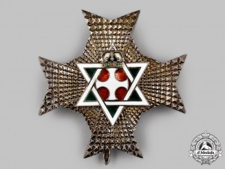 Ethiopia, Government in Exile. An Order of King Solomon's Seal, Commander's Star, c.1950