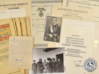 Spain, Spanish State. The Awards Documents and Photo Album of Admiral Francisco Moreno Fernández