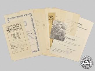 Germany, Imperial. The Estate of First War Veteran & Bavarian Governmental Inspector Josef Hörmann