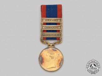 United Kingdom. A Sutlej Medal 1845-1846, Dignitary Presentation Specimen