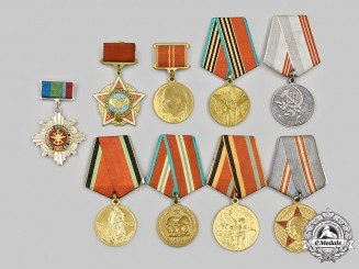 Russia, Soviet Union, Federation. A Lot of Nine Medals and Badges