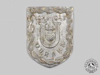 Croatia, Independent State. A Ustasha Defence Badge 1941-1943