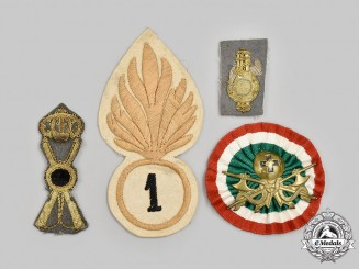 Italy, Kingdom. Lot of Four Badges