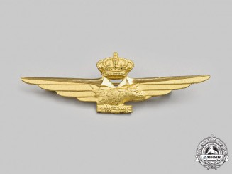 Italy, Fascist State. A Second War Royal Italian Air Force Pilot Badge, c.1941