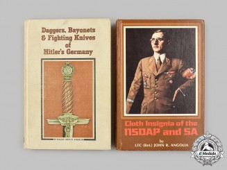 Germany, Third Reich. A Pair of Reference Books, NSDAP/SA Cloth Insignia and Edged Weapons, by John R. Angolia