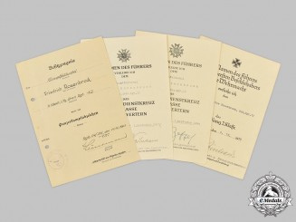 Germany, Heer. A Lot of Award Documents to Friedrich Rosenbrock, Eastern Front Service
