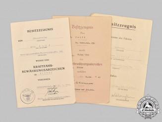 Germany, Heer. A Lot of Three Award Documents