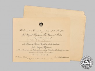 Canada, Dominion. An Invitation for the Visit of the Prince of Wales during the Royal Tour of 1919
