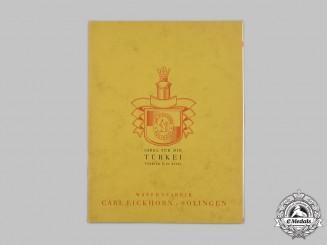 Germany, Weimar Republic. An Eickhorn Pamphlet for Turkish Swords, 1931